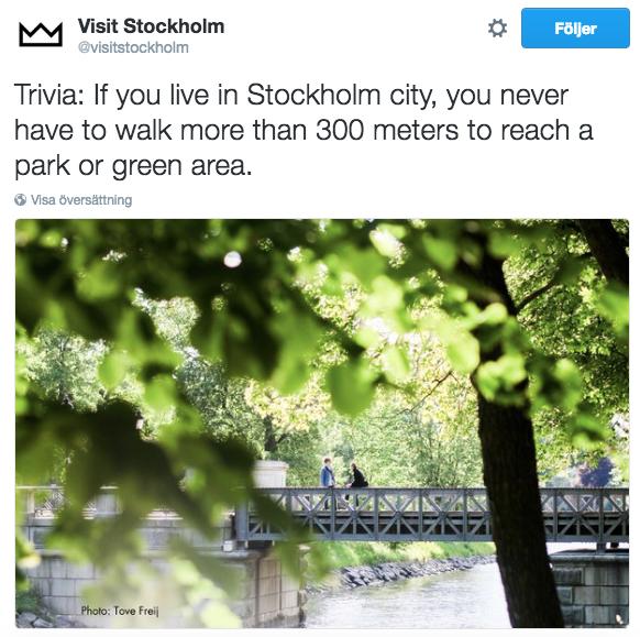 La nature à Stockholm
